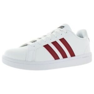 Adidas Advantage burgundy stripes classic sneakers